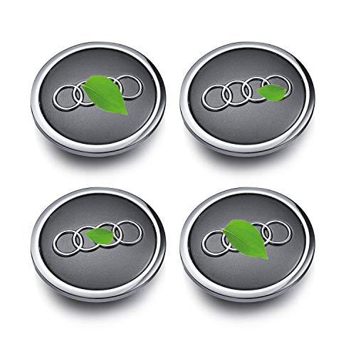 Coprimozzi per cerchi in lega, compatibile con AUDI, 69 mm, grigio, (set da 4)