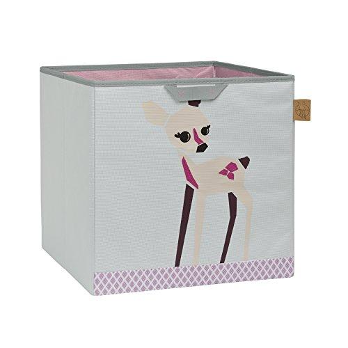 LÄSSIG Kinder Aufbewahrungskorb Aufbewahrungsbox Kinderzimmer Spielzeugkorb Organizer Wäschekorb/Toy Cube Little Tree - Fawn