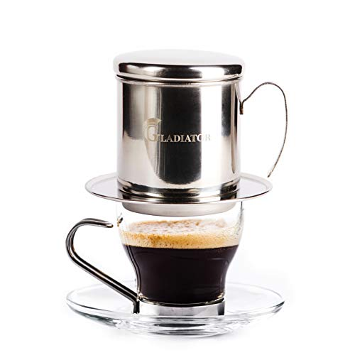 Vietnamese Coffee Maker Filter Phin, Small French Press...