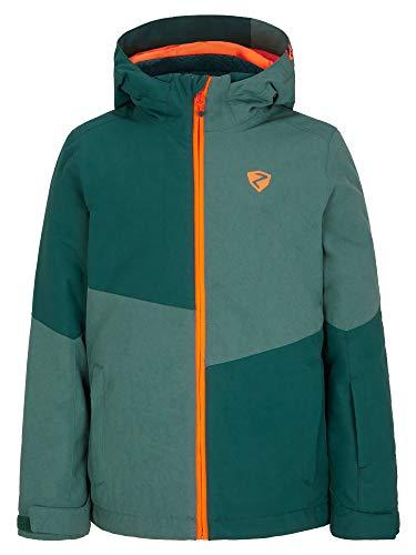 Ziener Jungen ABIAN Junior Kinder Skijacke, Winterjacke | Wasserdicht, Winddicht, Warm, Spruce Green.Spruce Green wash, 140