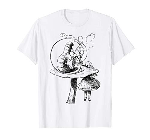 Alice y sus aventuras y la oruga humeante Camiseta