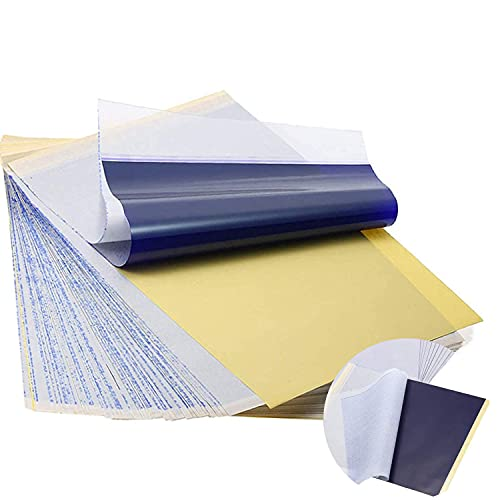 Sunnysam 20 Blatt Tattoo Transferpapier Papier, Tattoo Schablonen Pauspapier A4 Kohlepapier, Tätowierungen Graphitpapier Transferfolie Papier für Tattoo