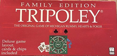 Vintage Cadaco Tripoley 1989 juego EDICIÓN FAMILIAR
