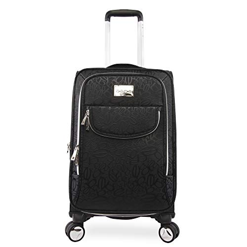 """BEBE Women's Carissa 21"""" Expandable Spinner Carry Tossed Black, One Size"""
