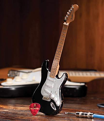 Axe Heaven FS-003 Fender Start Black Vintage Distressed Miniature Guitar Replica
