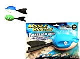 Wave Runner Whistle Footballs Sports Vortex Aero Howler Toy Pro Foam Throw like Arrow See Fly like a Missile Set of 2 Styles Whistling Dart Footballs For Kids footballs (Any Sea Animal)
