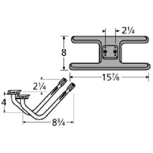 Music City Metals 20902–78102Gusseisen Brenner Ersatz für Select Broil King Gasgrill Modelle