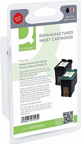 Q-Connect Tintenpatrone für Deskjet 460/C/CB/WBT/WF, 5740, 5743, 5745, 5748, 5793, 6520–Schwarz/Cyan/Magenta/Gelb