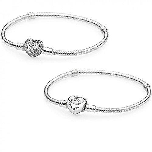 Pandora Armband mit Herzverschluss aus Pavé 21 cm