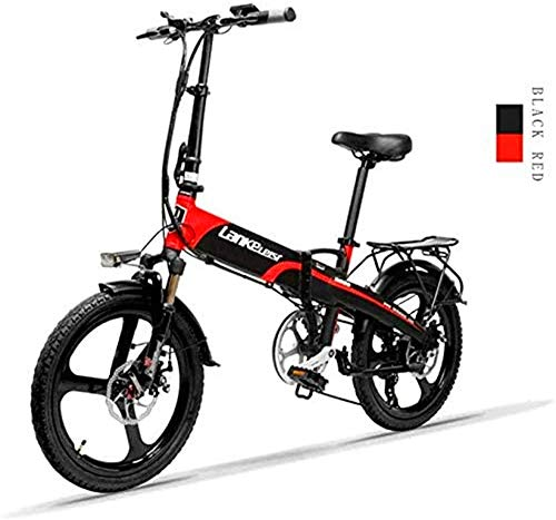 Bici electrica, 20 pulgadas plegable bicicleta eléctrica de 48V 240W 12.8Ah batería de litio de la Ciudad de la bicicleta 7 velocidad E-Bikes 5 velocidad Varón adulto y hembra Mini bicicleta de montañ