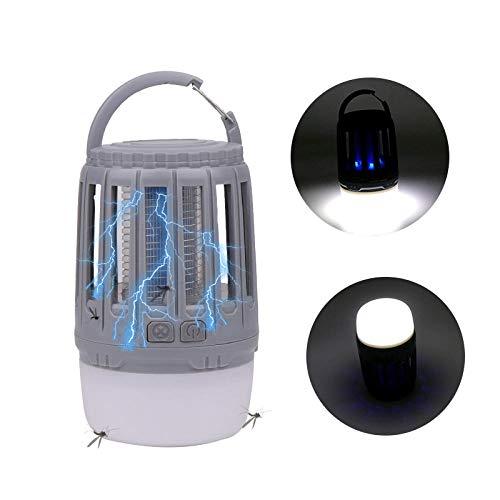 Selighting LED im Freien USB-Aufladung Mücke Mücke töten Zeltlampe Mücke Camping Lampe lila Licht Mücke Camping Lampe-Grau_13,8 * 8,6 * 8,6 cm
