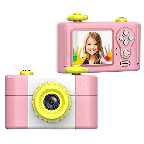 CamKing Kinder Digital kamera, Neu Mini 1,5 Zoll Bildschirm Kinder kamera (Rosa)