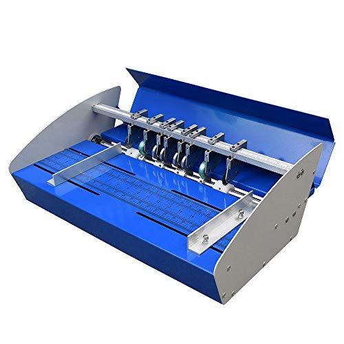"""OUKANING Rillmaschine 18"""" 46cm Elektrische Creasing Maschine Für Papier Profi Nutmaschine Einstellbare"""