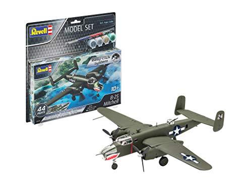 Revell Set B-25 Mitchell Kit de Modelos de plástico, Multicolor, 1/96 (63650)