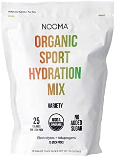 NOOMA Organic Sport Hydration Mix | Naturally High in Electrolytes + Adaptogens | Keto, Vegan, Gluten Free & More | No Add...