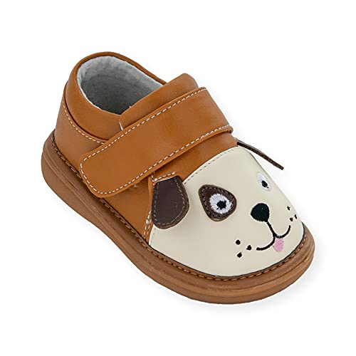 Wee Squeak Toddler Squeaky Shoes Fetch The Dog Brown Size 7