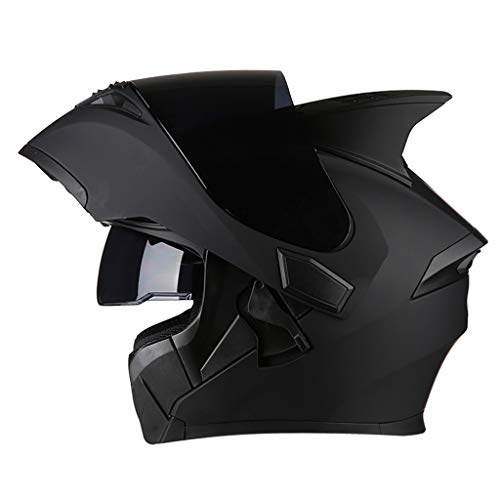 HJL Casco da Uomo e da Donna Casco Integrale da Motociclista Casco Integrale Casco Four Seasons Cool (Colore : Nero-XL)