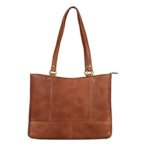 STILORD 'Delilah' Borsetta Shopper Pelle Donna Vintage Borsa a Spalla con Manici Lunghi Borsa a Mano Tote Bag Vera Pelle, Colore:arrona - marrone