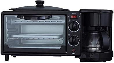 CAIJINJIN Machine à cuisson 3-in-1 Retro famille Petit-déjeuner station Maker Centre Multi-Function Cafetière avec bouillo...