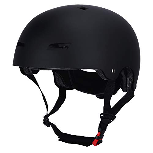 LOOGU Skateboard Helm Scooter BMX Helm Skaterhelm 3 Größen (50-61cm) Fahrradhelm für Kinder Jugendliche Erwachsene Sport Helm – Mit CPSC Zertifikat