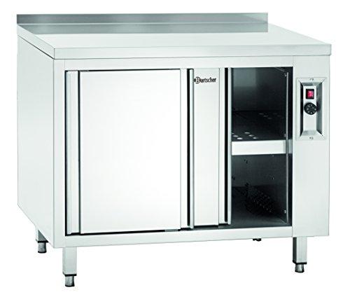 Meuble chauffant avec portes coulissantes et étagère, L 1000 mm