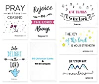 Christian Greeting Cards - 60 Inspirational Greeting Cards -Bible Verse Greeting Cards -Motivational Greeting Cards- Religious Greeting Cards- 60 Scripture Greeting Cards with 60 Envelopes- 4 x 6 Inch [並行輸入品]