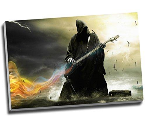 Death Heavy Metal Angel Gitarre Musik Fantasy Wall Art Print auf Leinwand Bild Kunstdruck auf Leinwand groß A176,2x 50,8cm (76.2cm x 50.8cm)