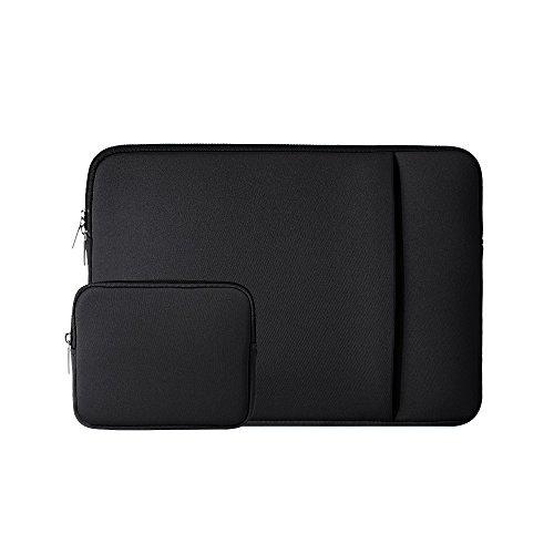 RAINYEAR 11-11,6 Zoll Laptop Hülle Schutzhülle Sleeve Abdeckung Laptophülle Laptoptasche mit Fronttasche & Zubehör Tasche Kompatibel 11,6 MacBook Air für 11 Notebook Computer Chromebook(Schwarz)