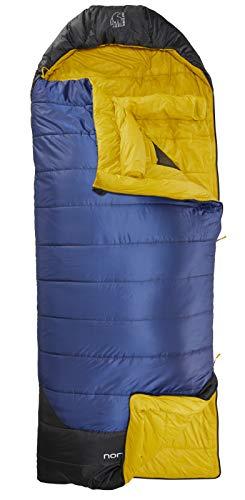 Nordisk - PUK Schlafsack, strapazierfähiges Ripstop-Außengewebe, 2-Wege-Reißverschluss, Deckenschlafsack, Blanket-Konstruktion/Form, -2 Grad, Grösse XL, Blau