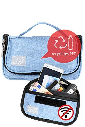 2nd LIFE universales Federmäppchen und Kulturbeutel inkl. Signal-Blocker│Material aus recyceltem PET für eine saubere Umwelt │vielseitige Kosmetik-Tasche für Schule, Uni, Reisen, Ausflüge