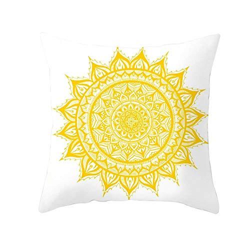 LHOKAZ Pineapple Leaf Yellow Cushion Cover Summer Pineapple Printing Decorative Pillowcase Polyester Yellow Throw Pillow Case for Sofa-24