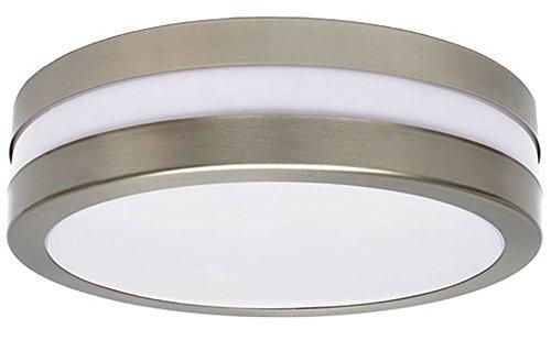 Plafonnier extérieur rond argent blanc jardin garage éclairage socket 2xE27 IP44 Kanlux 8980