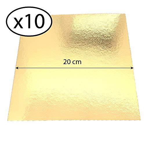 Juego 10 soportes pastel cuadrados cajas colores