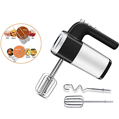 Electric Hand Mixer, 5 Snelle Lichtgewicht Handheld Whisk Met One-Button Eject Design/Stille Werking Voor Kitchen Baking Cake Mini Egg Cream Eten Beater (Desktop Whisk)