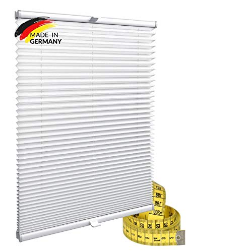 Gardinen21 Plisseerollo ohne Bohren | Plissee-Klemmfix | Plissee 30x100 für Türen & Fenster | Sonnenschutz, Sichtschutz für Fenster, Blickdichte Rollos