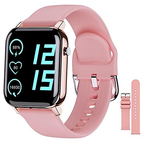 EPILUM Smartwatch, 1,4' Reloj Inteligente Mujer Hombre con Pulsómetro,Cronómetros,Calorías,Monitor de Sueño,Podómetro Monitores de Actividad, Relojes Inteligentes IP68 Impermeable