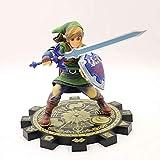 Mopoq La leyenda de Zelda Sky Sword Standing Link Boxed Figura Modelo Link Warrior Four Swords Toy