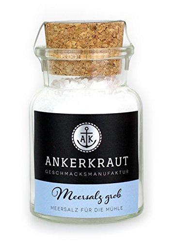 Ankerkraut Meersalz grob im Korkenglas