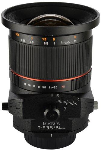 Rokinon tsl24m-n 24mm f/3. 5 tilt shift lens for nikon