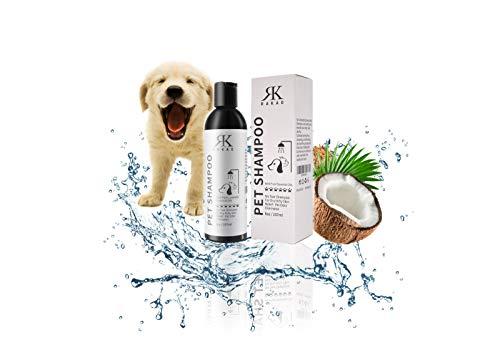 RK RAKAO Premium Hundeshampoo - Katzen Shampoo - Fellpflege Hund - Hundepflege - Hundeshampoo Welpen gegen Geruch - empfindliche Haut und Fell - Hundeshampoo langhaar - gegen Juckreiz Hund - Sensitiv