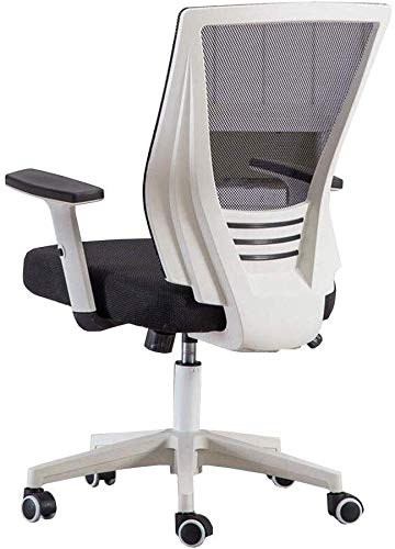 ZHPBHD Ergonomischer Bürostuhl High Back Mesh-Bürostuhl mit Computer Stuhl höhenverstellbar (Color : Black, Size : Black Frame)