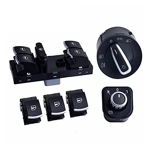 ZHIXIANG Master Window Control Interruptor Espejo Faro Faro lámpara Fit Fit para V W J ETTA 6 Golf GTI 5 6 TIGUAN Passat B6 CC