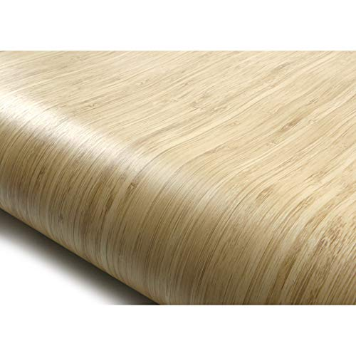 ROSEROSA Peel and Stick Flame Retardation PVC Wood Instant Self-Adhesive Covering Countertop Backsplash Bamboo (PF4061-1 : 2.00 Feet X 6.56 Feet)