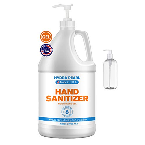 Hydra Pearl Hand Sanitizer Gel With Pump - 70% Alcohol -...