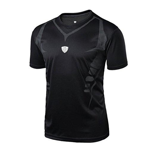 Camisa de Hombre Camiseta Térmica de Compresión de Manga Corta para Hombre Slim Fitness Running Yoga Atlético Tops Blusa Camisetas Deportivas Pollover Sudaderas con Capucha Chándales