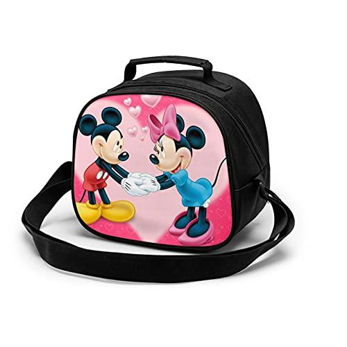 Minnie Cartoon Mouse Mickey Bolsa de almuerzo aislada para niños, caja de almacenamiento de alimentos caliente, caja de almuerzo, se puede utilizar en la escuela
