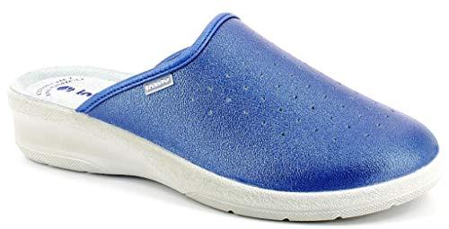 inblu Pantofole Ciabatte SANITARIE Donna MOD. 50-33N Jeans (37 EU)