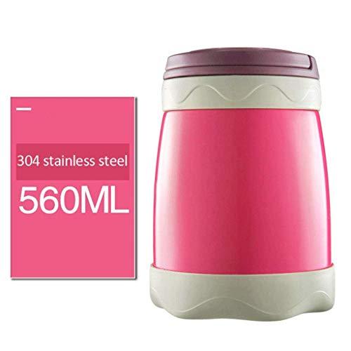 Vaatwerk Isolatie Lunchbox Roestvrijstalen vacuüm Mok Brandende Pot Soep Pot Smeulening Blikken (Kleur: A) (Color : B)