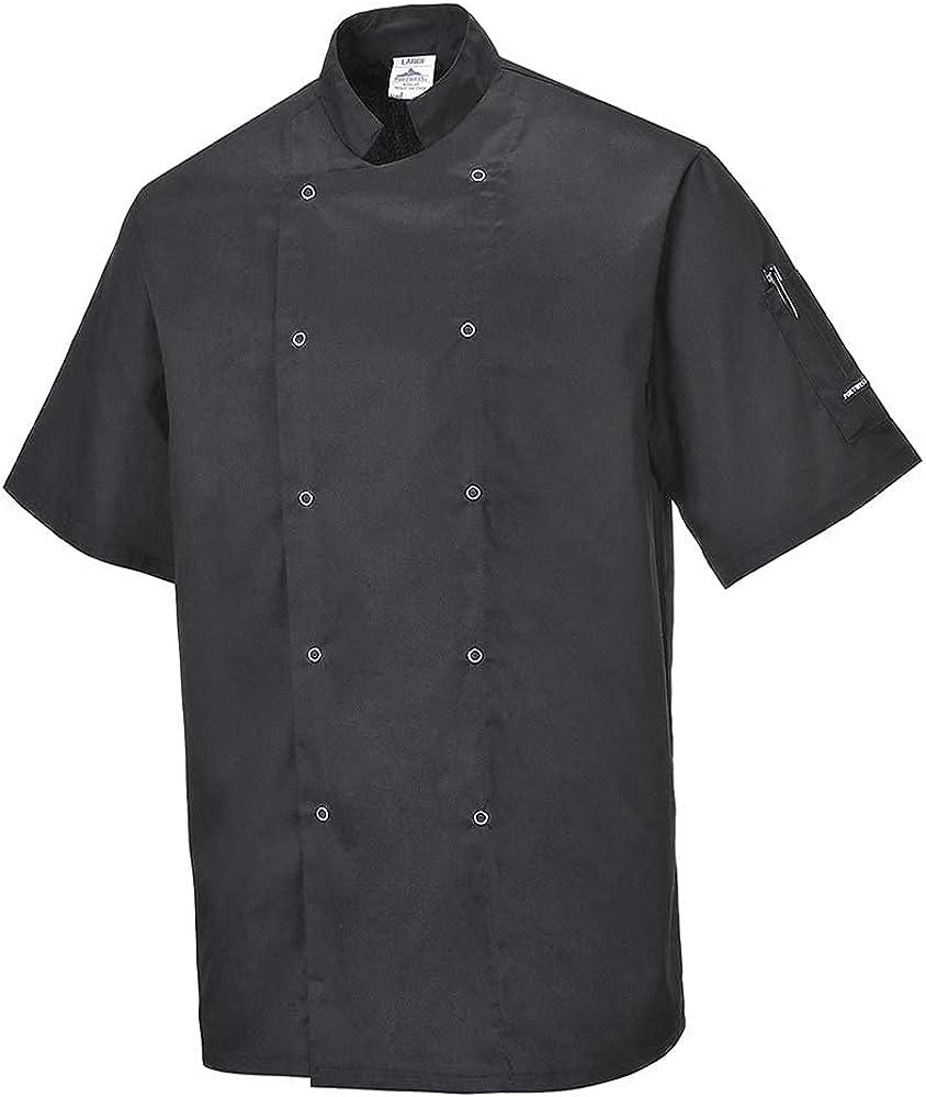 Portwest Workwear Mens Cumbria Chefs Jacket