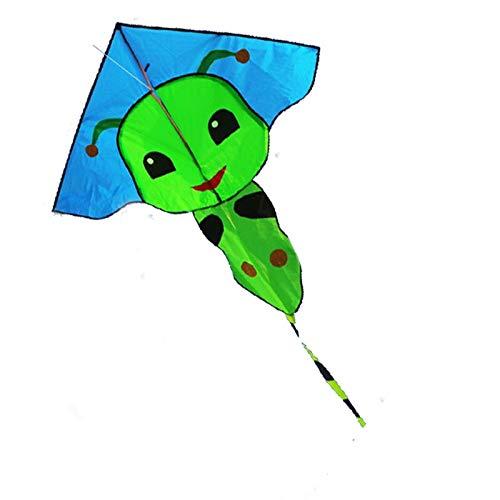 Cometa del gusano de la historieta del poder de las cometas 3 M para los niños con la manija y la línea buen vuelo